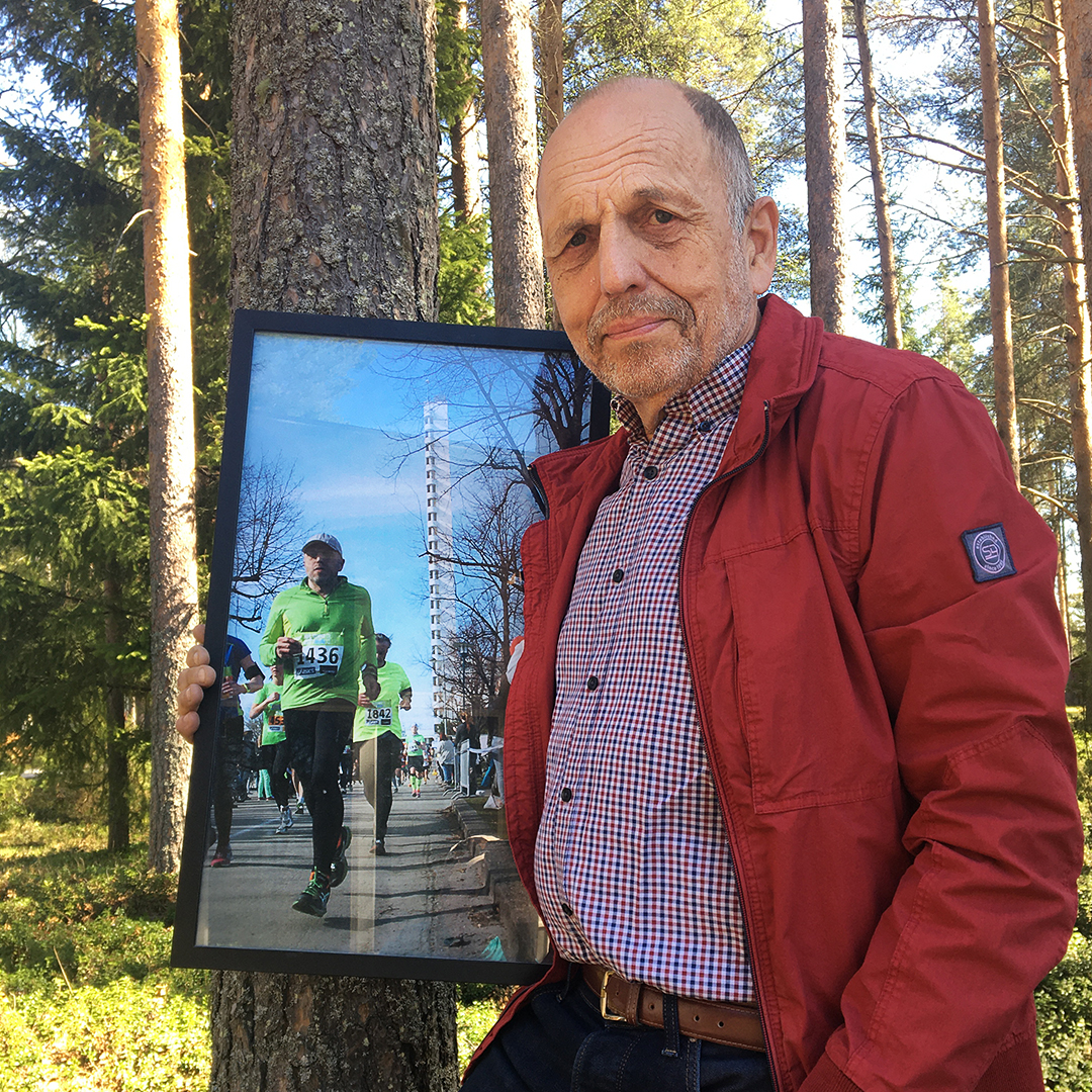 Esa Saarela juoksi ensimmäisen maratooninsa 59-vuotiaana.